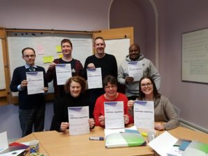 Seven new stewards with their certificates
