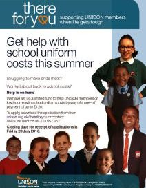 Get help with school uniform costs this summer