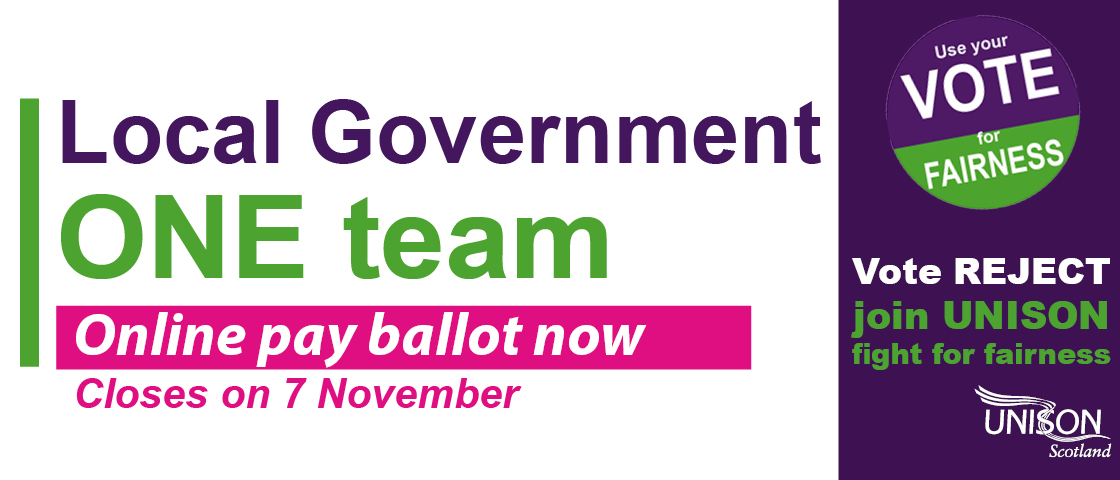 Online pay ballot closes 7 November